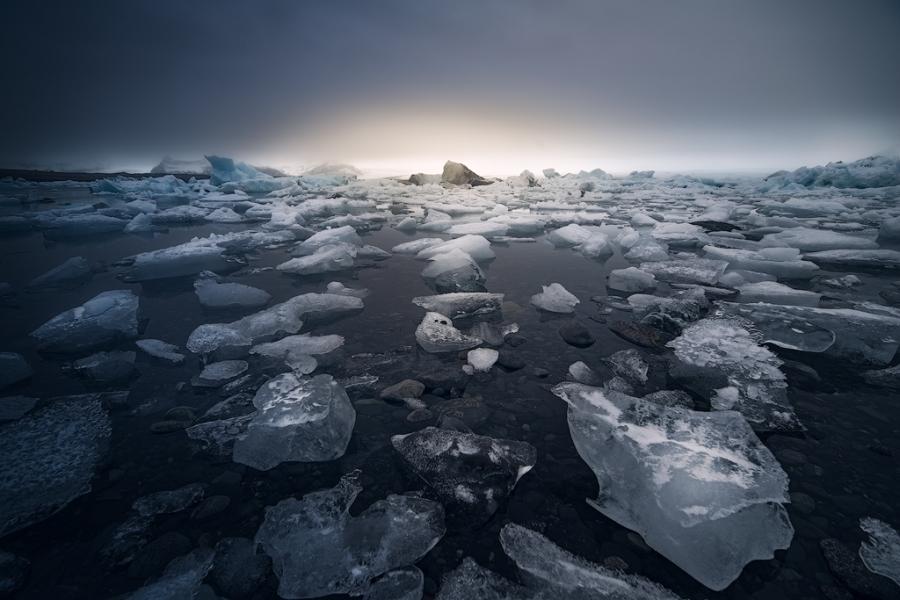 Atardecer en el Glaciar