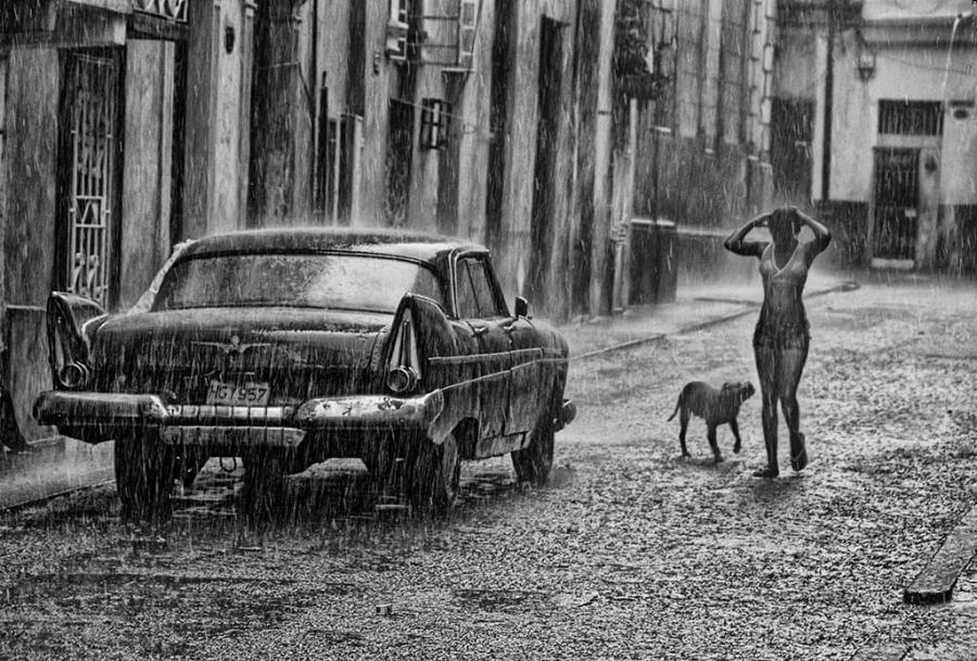 Cuba, tormenta de verano en La Habana