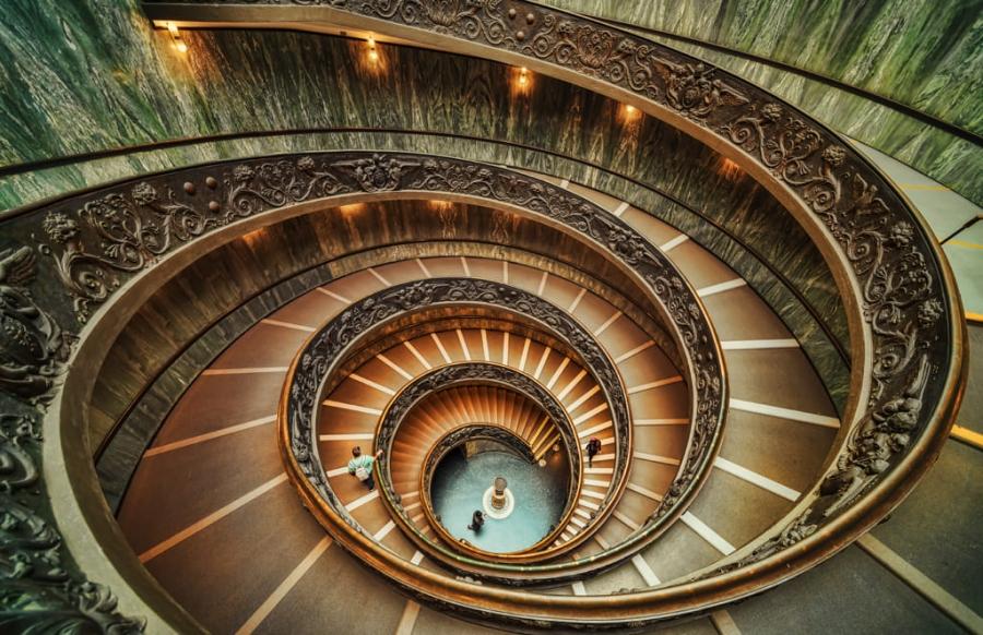 Escaleras de Bramante
