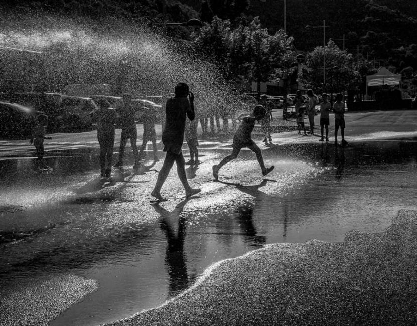 Street shower