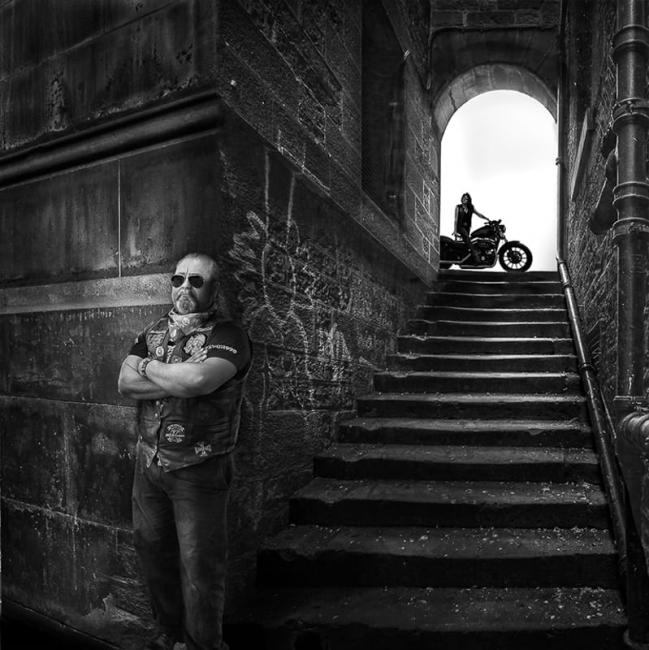 Edinbourg motard