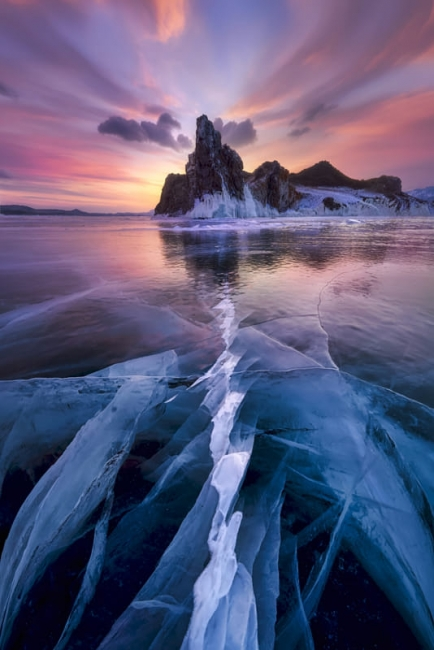 Ice and Fire in Baikal Lake