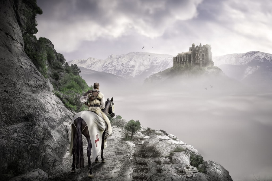 Templario de vuelta de las cruzadas