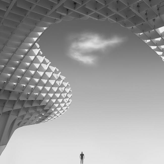 The man & cloud