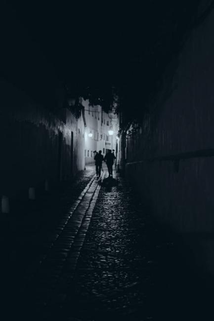 Fotógrafiando la calle de noche