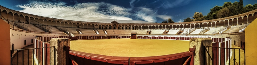 Bullfight arena