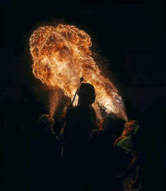 Bufadores de fuego