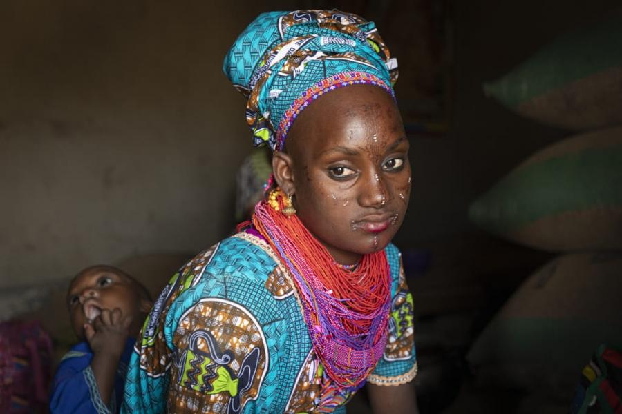 Mujer Fulani Borgou