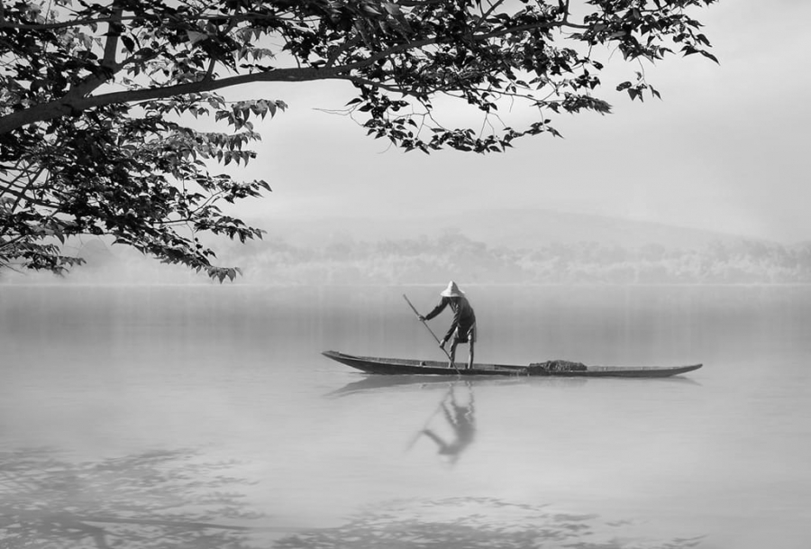 pescador solitari