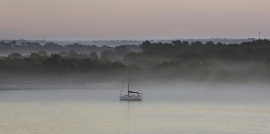 Navegando entre niebla