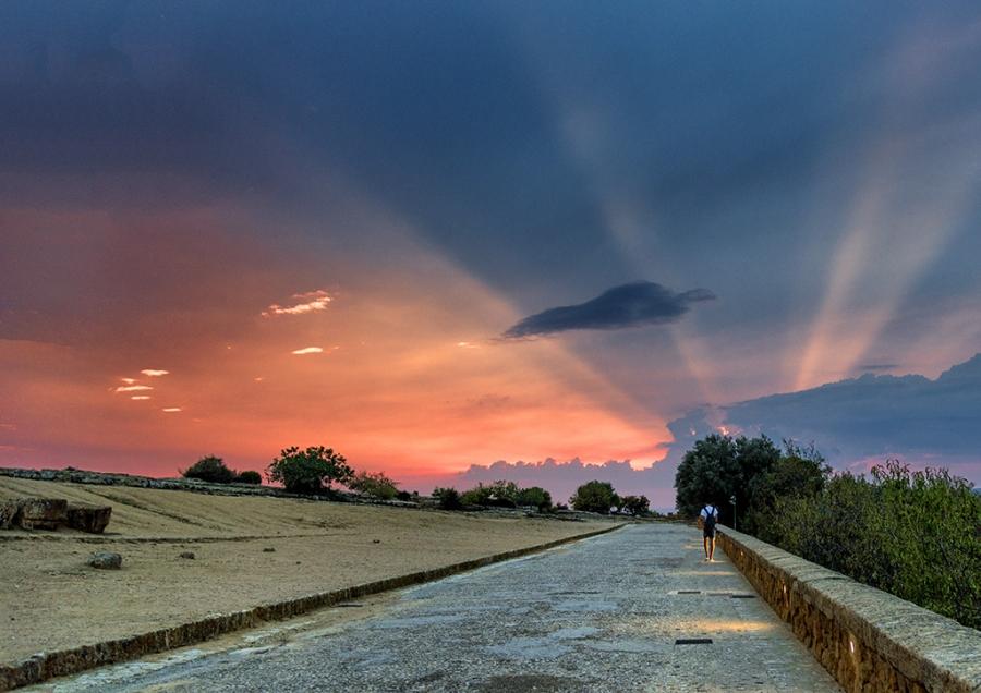 Sicilia , puesta de sol
