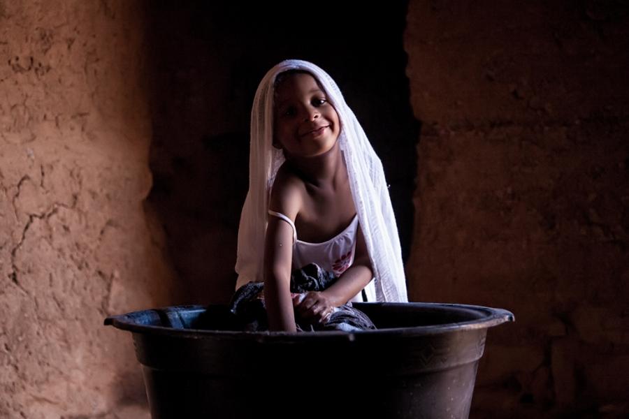 Washing girl