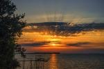 puesta de sol en île Madame