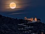 Full moon over Cullera