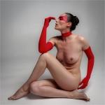 La dona vermella