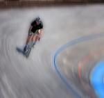 Ciclista en pista