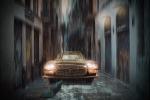 Coche en la lluvia