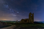 The Milky Way over the ruins