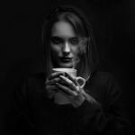 El café humeante de Maria