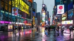 Lluvia en Times Square